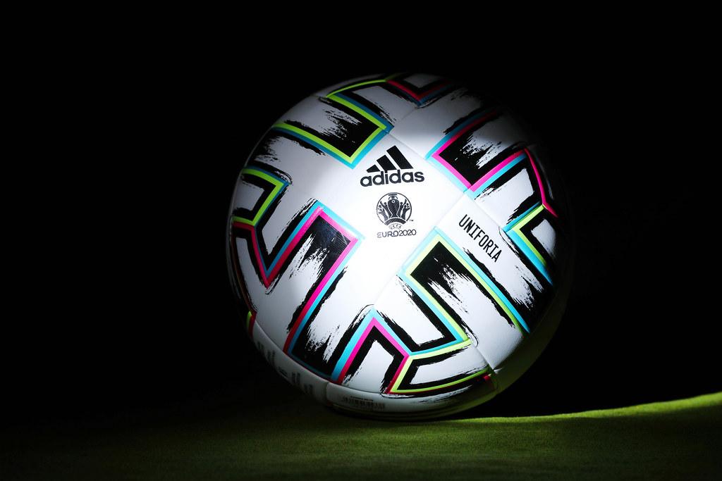 EURO 2020 official ball, Uniforia, dark background   Flickr