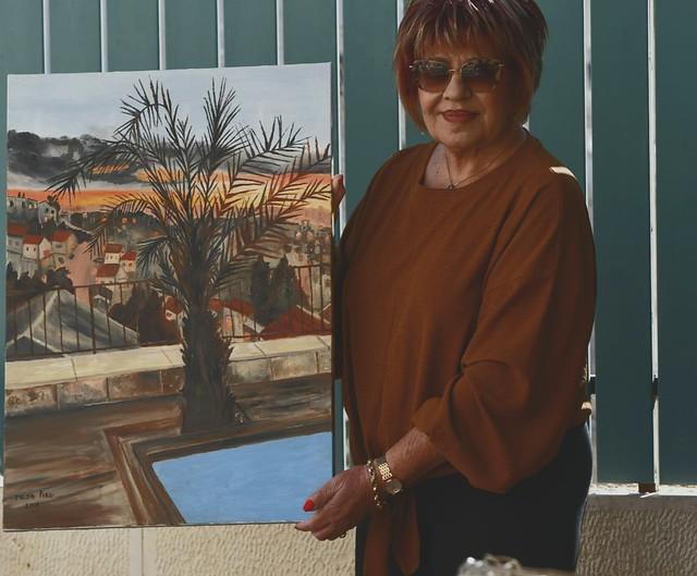 פרידה פירו Frida piro הציירת האמנית הישראלית המודרנית העכשווית הריאליסטית הציירות האמניות המודרניות ציורי נוף