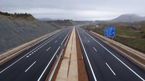 The new section of the Pyrenees Motorway (A-21) built by COMSA enters into service