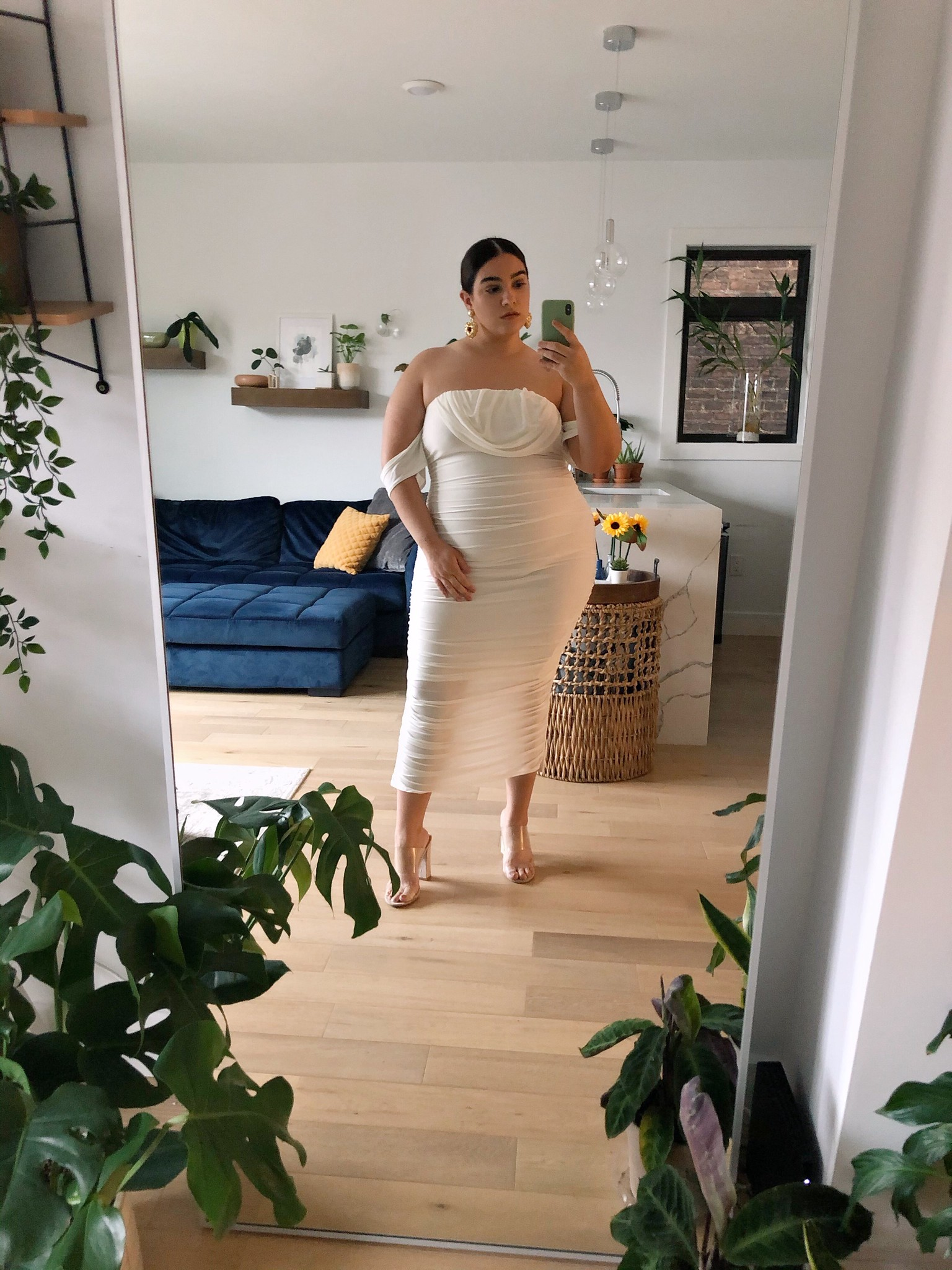 nadia white dress