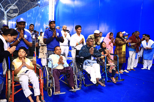 Specially abled devotees seeking blessings