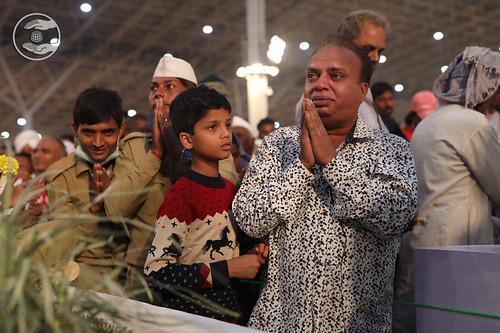 Devotee seeking blessings for the welfare