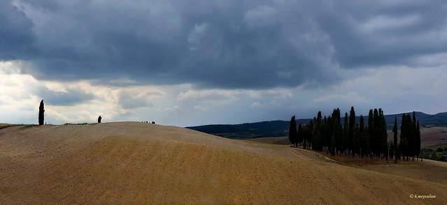 I cipressini di San Quirico d'Orcia. Un paesaggio irreale...