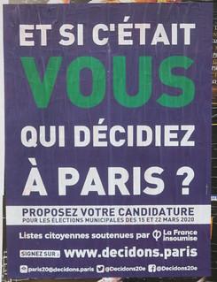 Et si c'était vous qui décidiez à Paris ?