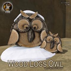 F&M Wood Logs Owl