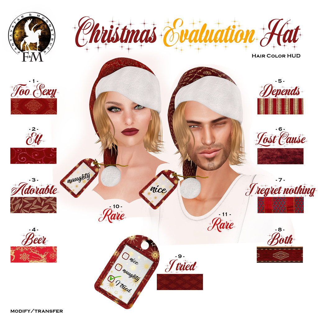 F&M Christmas Evaluation Hat GACHA