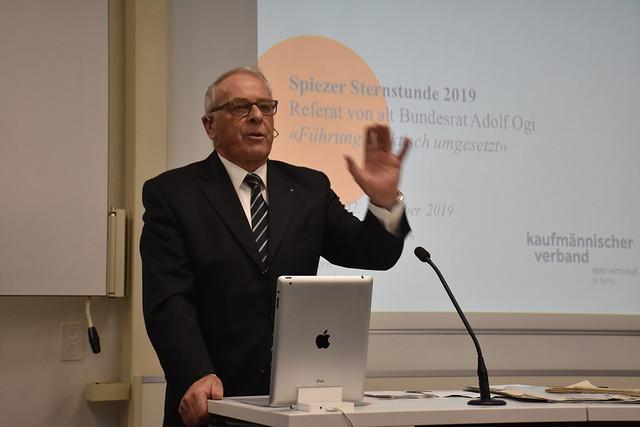 Spiezer Sternstunde 2019 mit Adolf Ogi