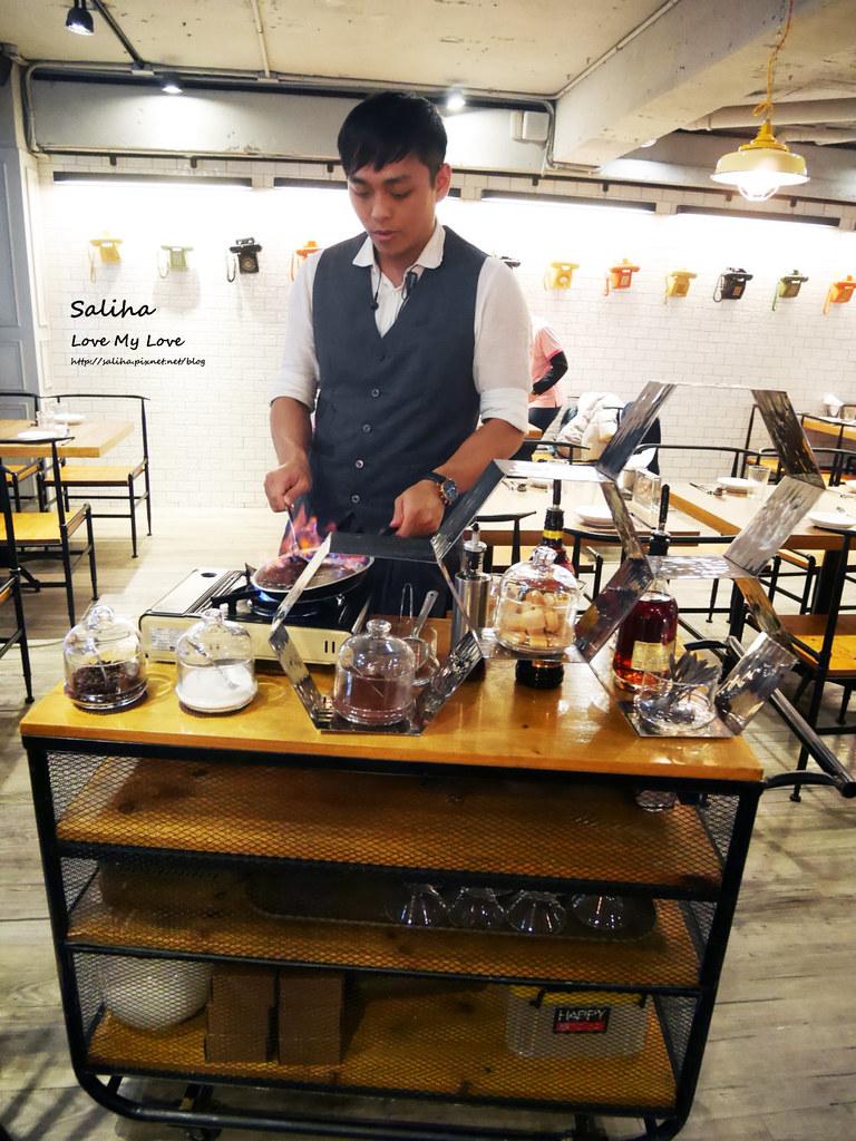 台北東區飯BAR MINI忠孝店現作甜點表演好吃提拉米蘇 (1)