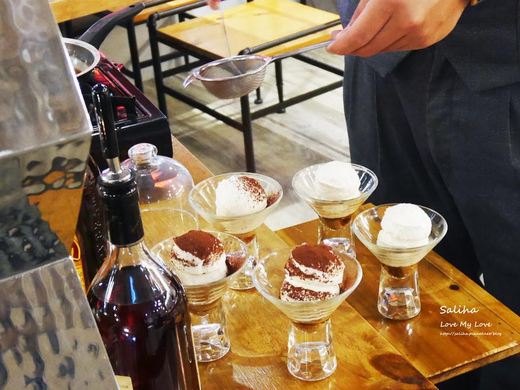 台北東區飯BAR MINI忠孝店現作甜點表演好吃提拉米蘇 (3)
