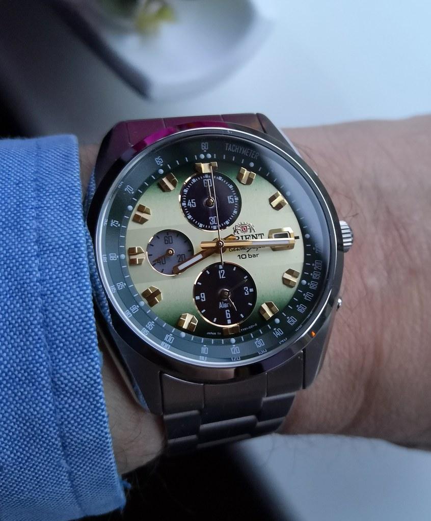 Orient Neo 70's Horizon Solar Chronograph WV0021TY (Cal Seiko V172)