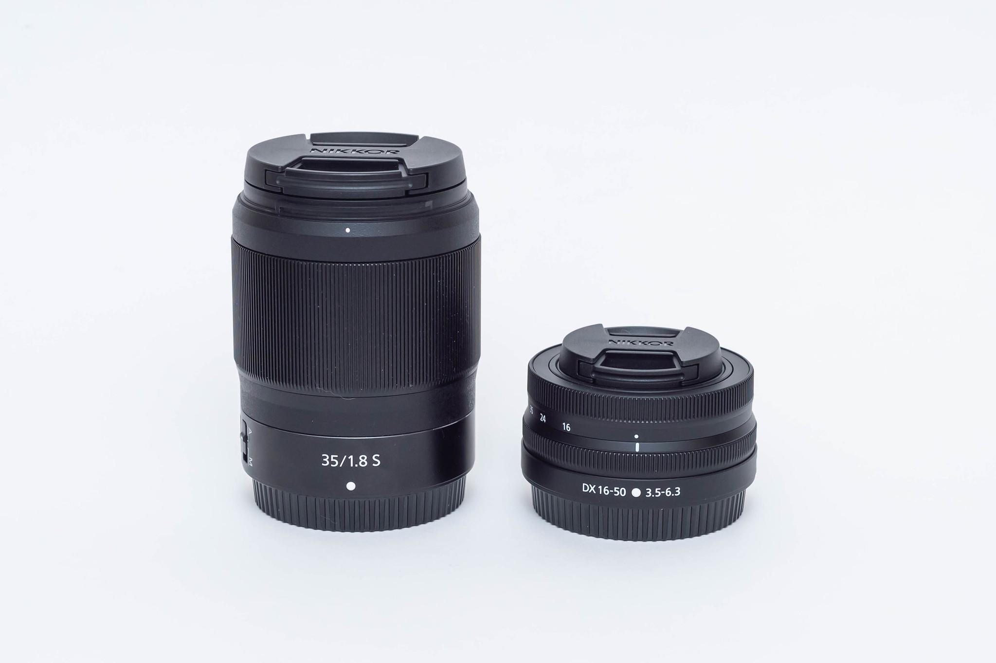 35mmとDX 16-50mm