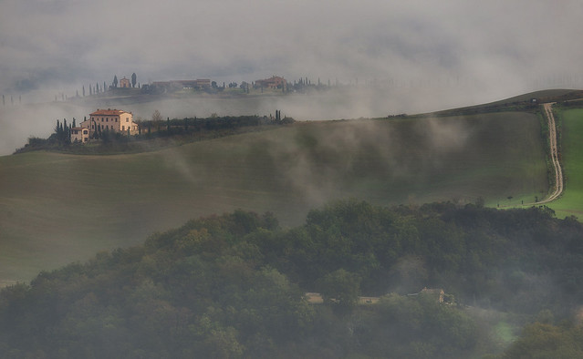 A FOGGY DAY  (Near podere Baccoleno, west side)