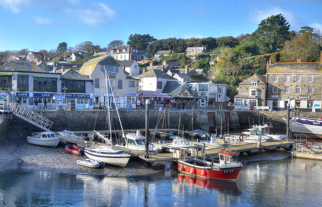 The inner harbour at Padstow, Cornwall