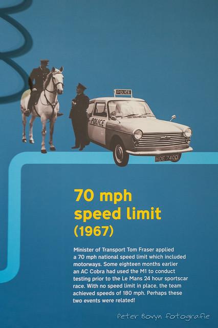 British Motor Museum : 70 mph Speed Limit
