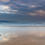 30. November 2019 - 5:45 - Capturing the sunrise reflections from Umina Beach on the Central Coast, NSW, Australia.