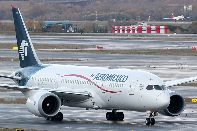 N966AM Aeromexico B787-8 Dreamliner Madrid Barajas