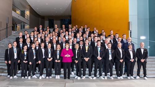 Bundeskanzlerin empfängt Team Germany