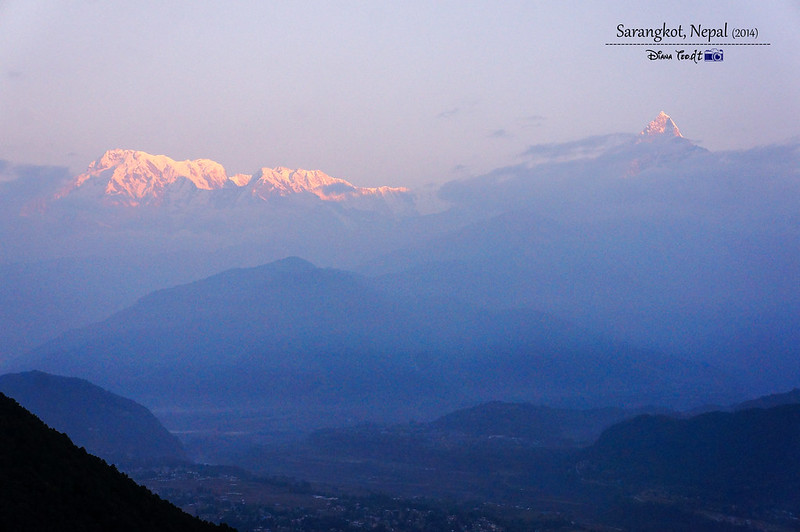 2014 Nepal Sunset View at Sarangkot 1