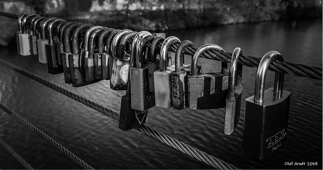 Love locks in Bamberg
