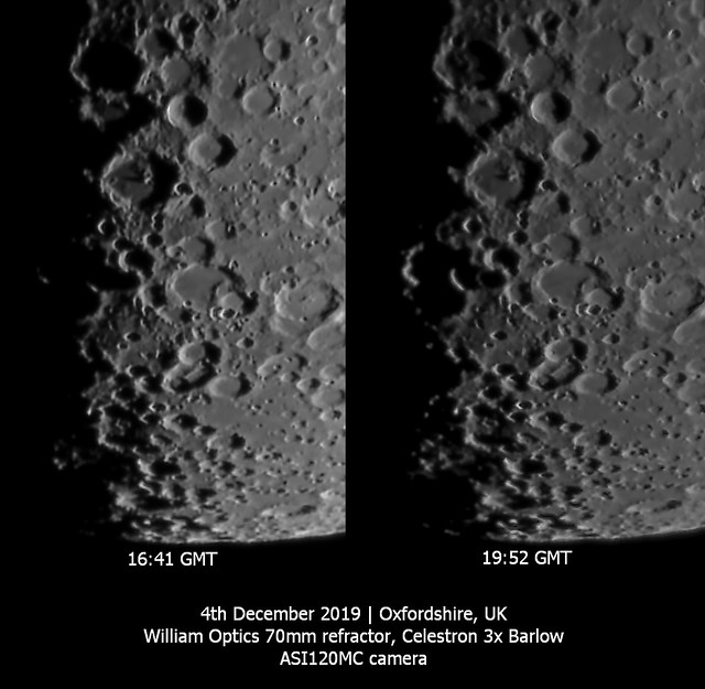 Evolution of Southern Lunar Crater Shadows 04/12/19