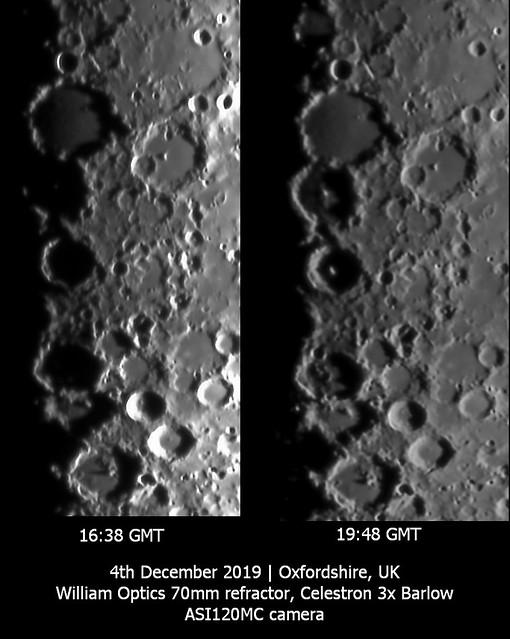 Evolution of Lunar Shadows Around the Ptolemaus Trio 04/12/19
