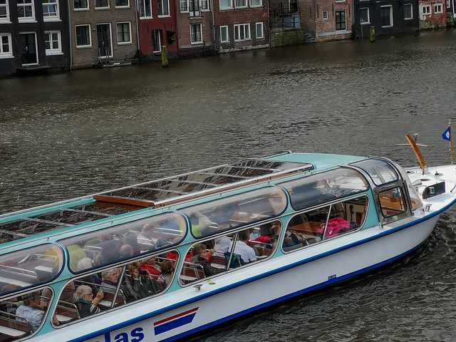 A must for tourists in Amterdam. The canal cruise.