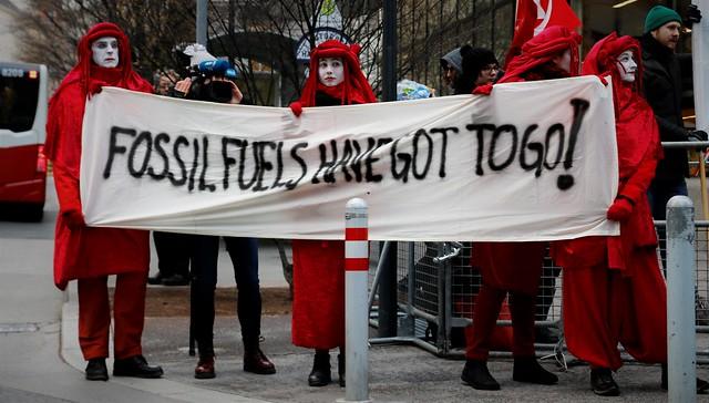 Stiller Protest zur OPEC-Tagung (5.12.2019)