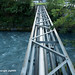 PLE420 Pipeline Bridge over the Plessur River, Chur, Canton of Grisons, Switzerland