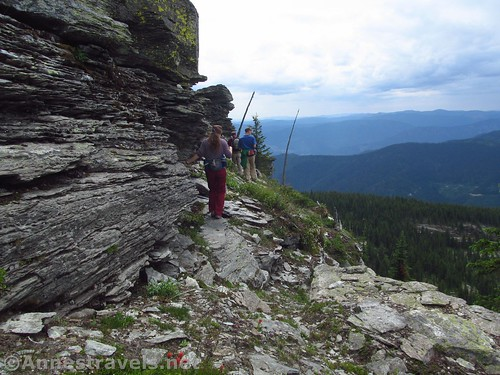 Hiking along the back of Chicago Peak, Cabinet Mountains Wilderness, Montana
