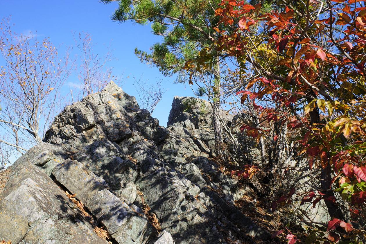 猿岩頂上の展望台