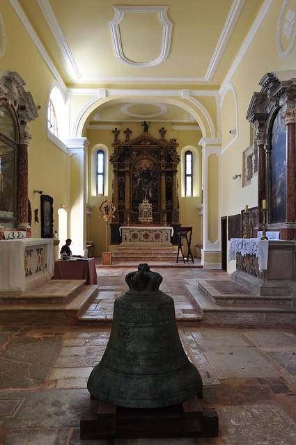 Musée d'art sacré, ancienne église Ste Justine, Rab, île de Rab, Comitat de Primorje-Gorski Kotar, Croatie.