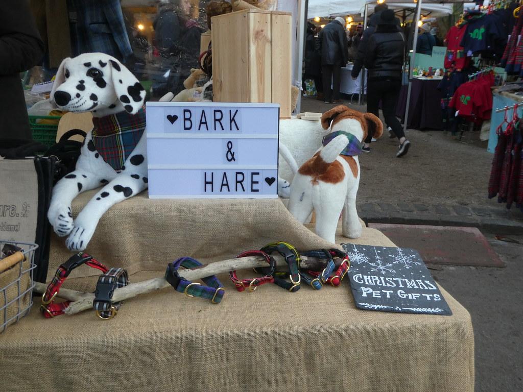 Dog treats at Sunday Market, Stockbridge, Edinburgh