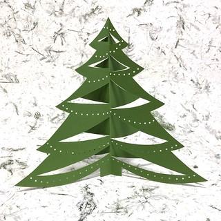 Paper Cut Folded Tree