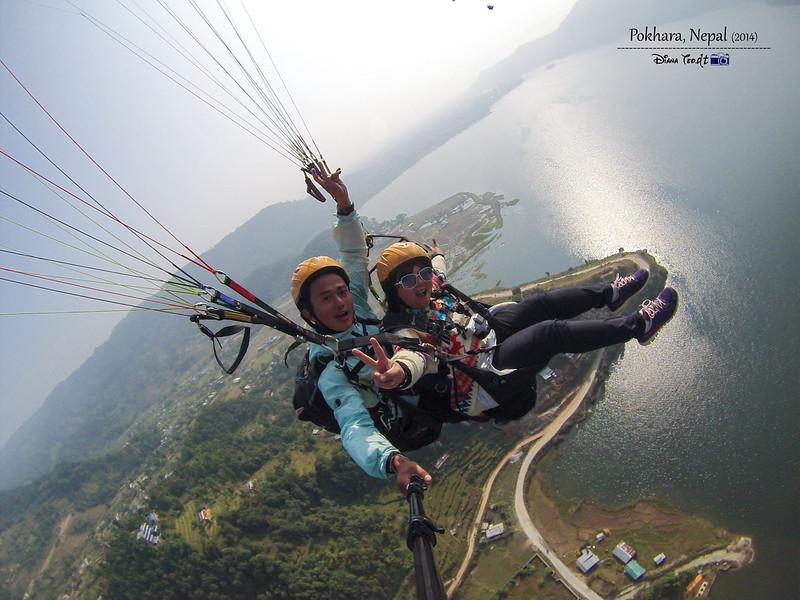 2014 Nepal Pokhara Tandem Paragliding 3
