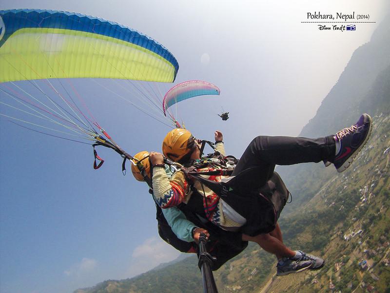 2014 Nepal Pokhara Tandem Paragliding 2