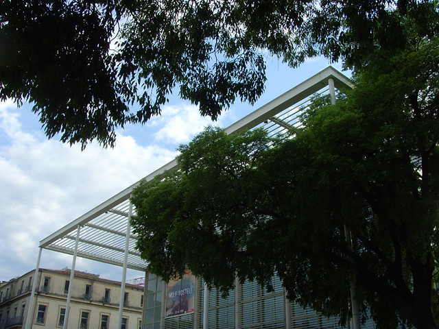 26 Nîmes, France - Carré d'Art-Musée d'art contemporain