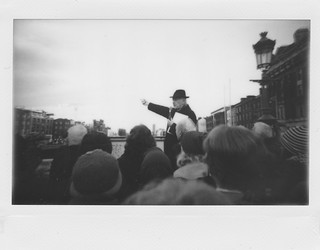 Instant street photography in Dublin. Shot using Fuji Instax wide paper.