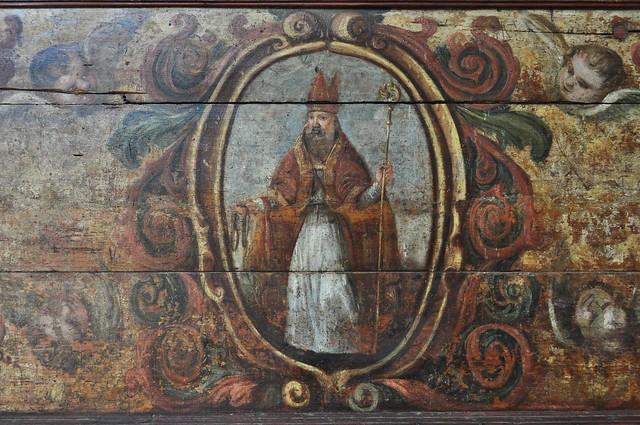 St Blaise, XVIIIe, antependium (devant d'autel), musée d'art sacré, Rab, île de Rab, Comitat de Primorje-Gorski Kotar, Croatie.
