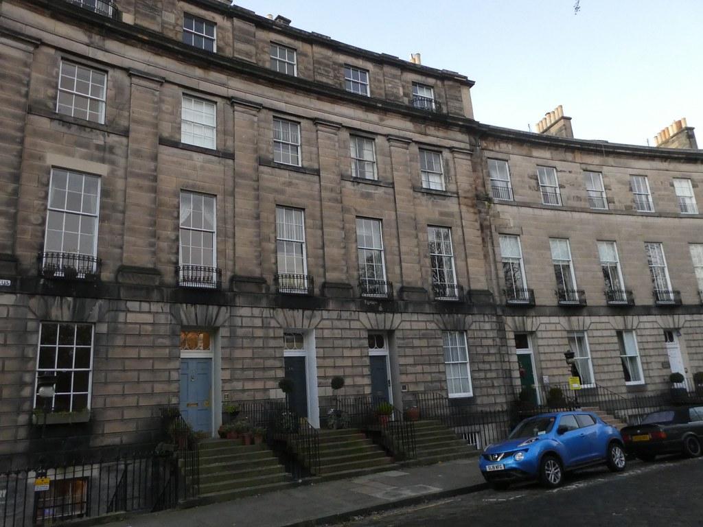 Georgian crescent in Edinburgh's New Town