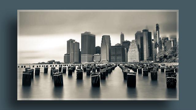 Manhattan on a cloudy day
