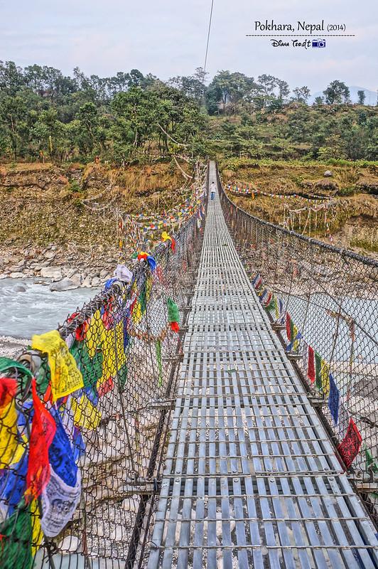 2014 Nepal Jangchub Choeling Monastery Bridge