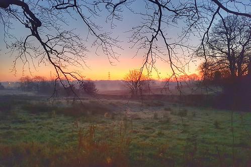sunrise lancashire winter landscape