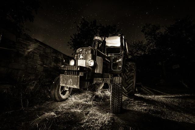 El tractor fantasma.