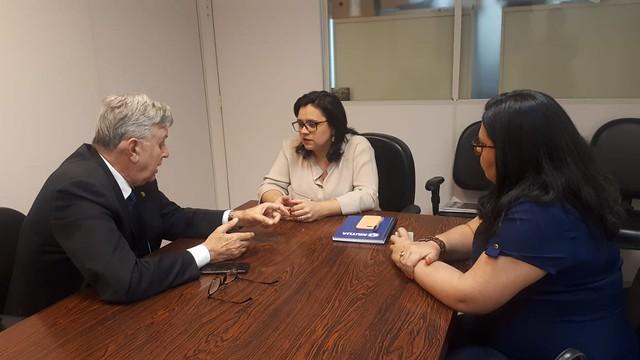 02/12/2019 Reunião com a presidente da Fepam