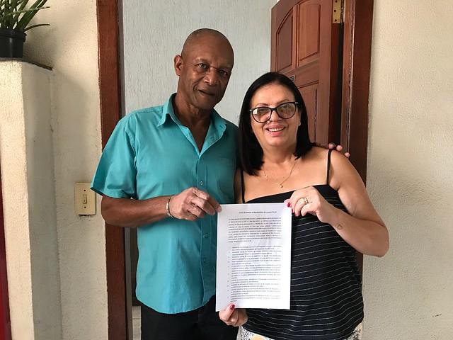 06/12/2019. Primeiro contrato de aluguel social é firmado em BH. Fotos: Divulgação/PBH