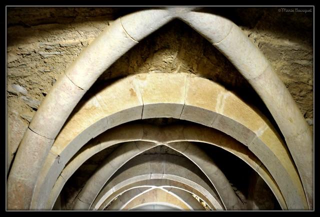 Voûtes à l'intérieur du prieuré