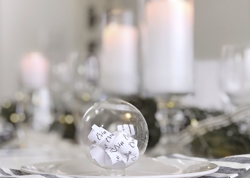 Ornament Place Name Card