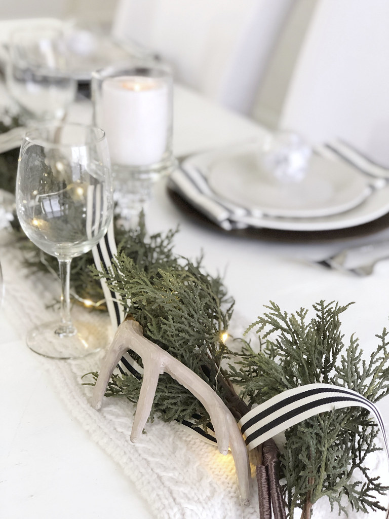 Faux Antler Ribbon Table Decor