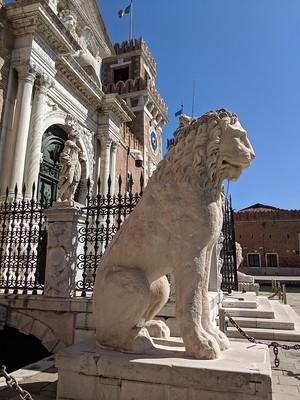 Guarding the Arsenale Stone Lion