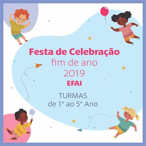 Festa de Celebração de final de ano - 2019